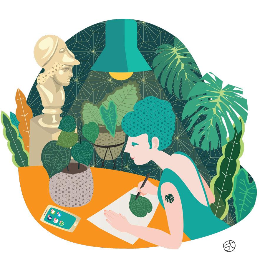 Fashion Green Addict with a passion - Illustrazione | Stefania Tomasich
