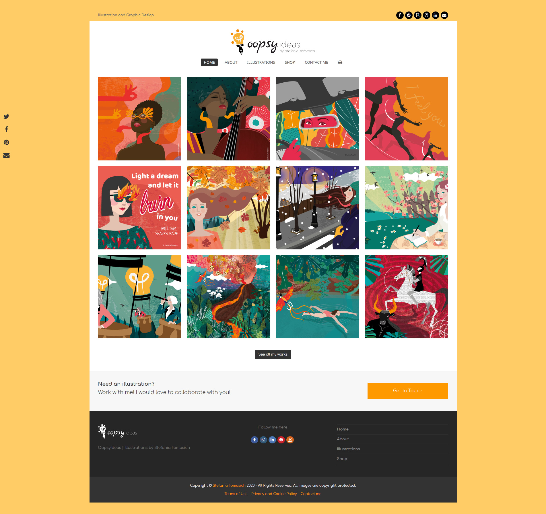 OppsyIdeas | Website About Stefania Tomasich's Illustrations