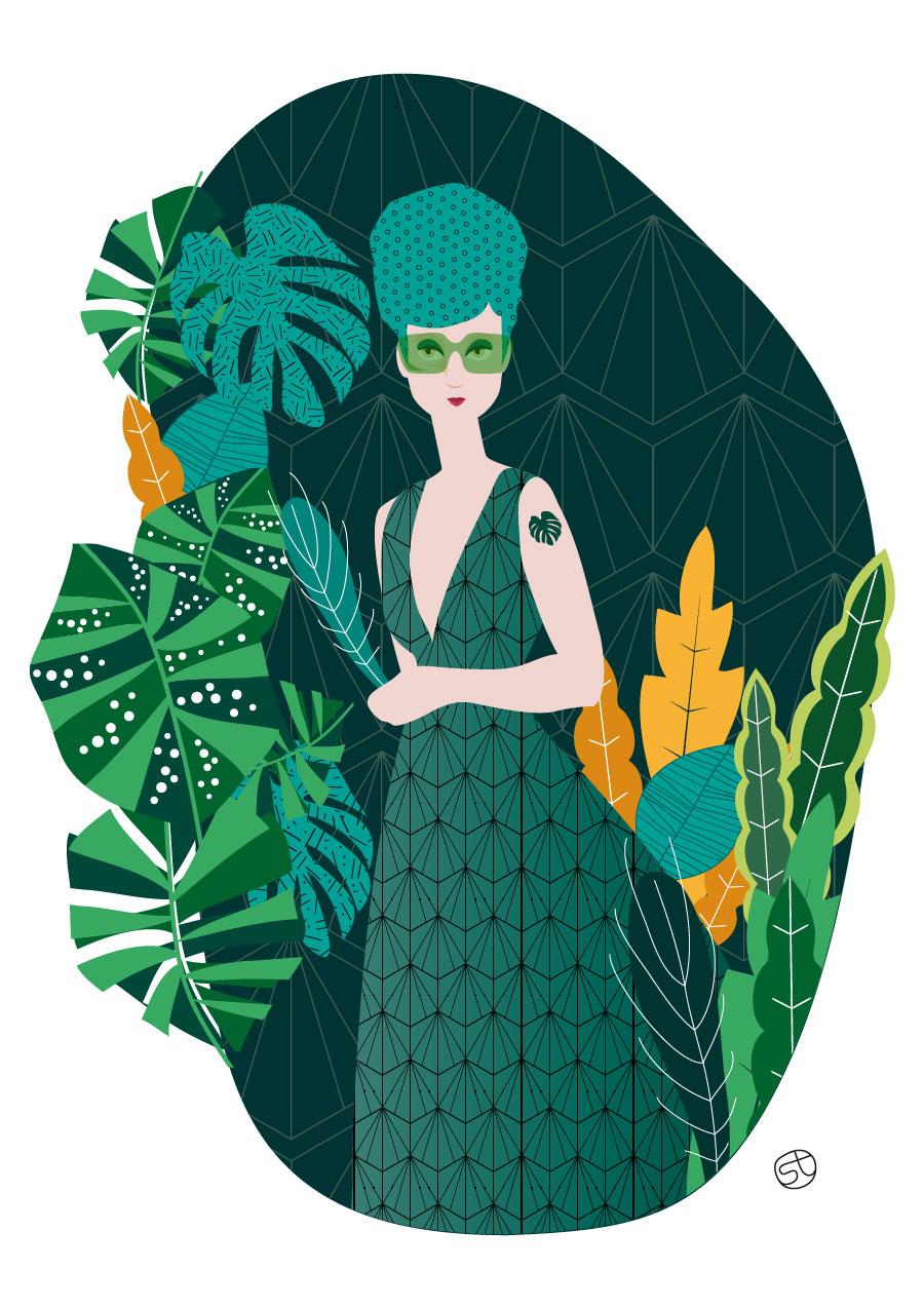 Fashion Green Addict- Illustrazione | Stefania Tomasich