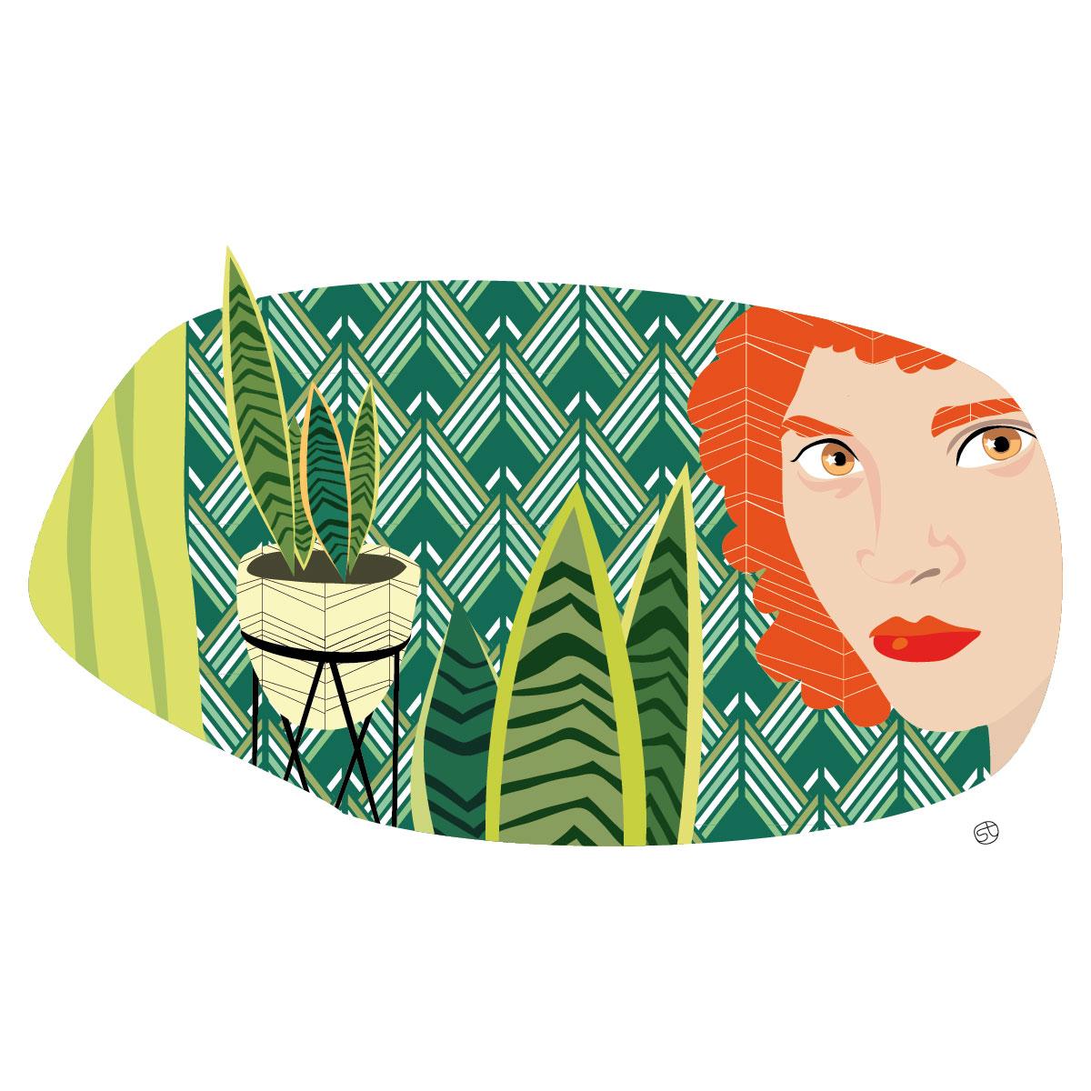 Green interior - Illustrazione | Stefania Tomasich